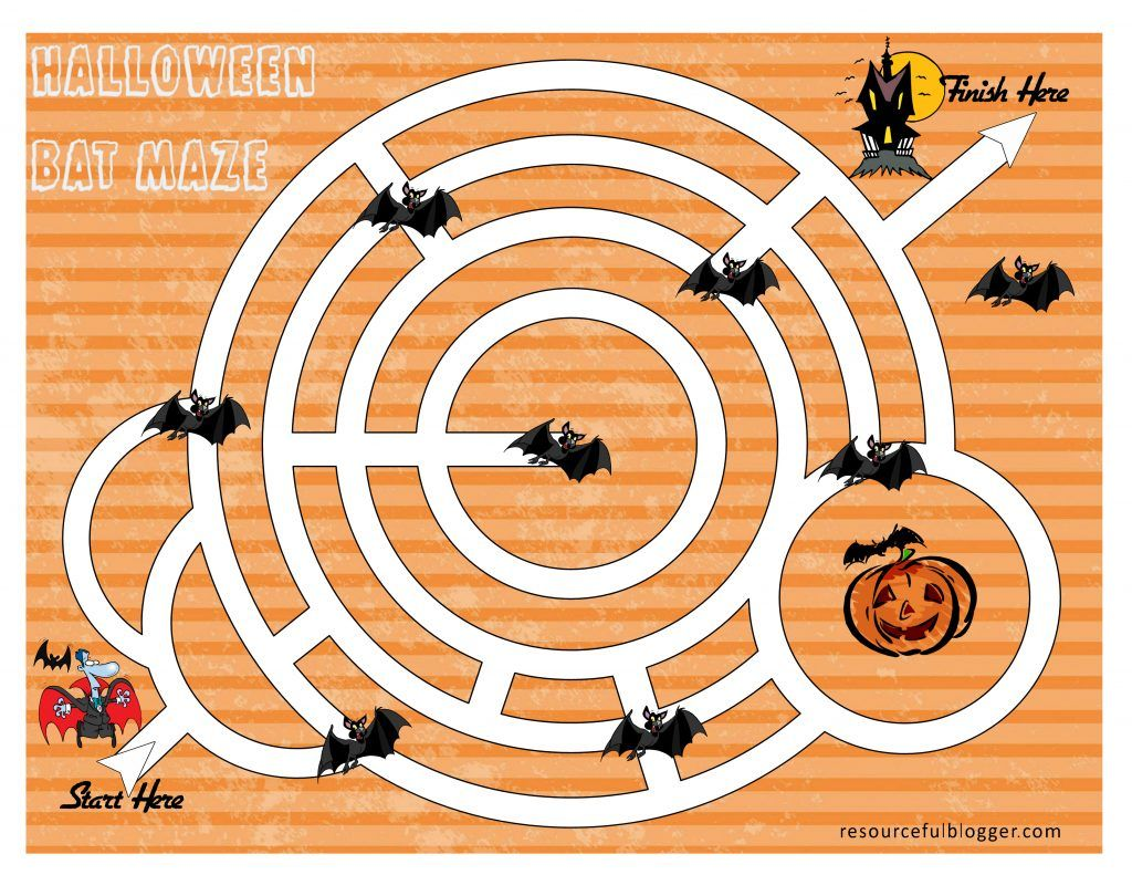 Bat Maze Activity Worksheet
