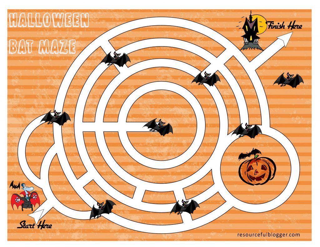 Bat Maze Activity Worksheet