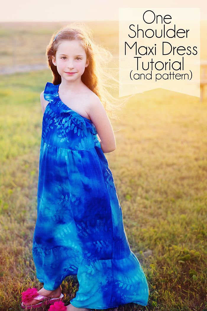 How to make this One Shoulder Maxi Dress. Tutorial comes w/ free pdf ...