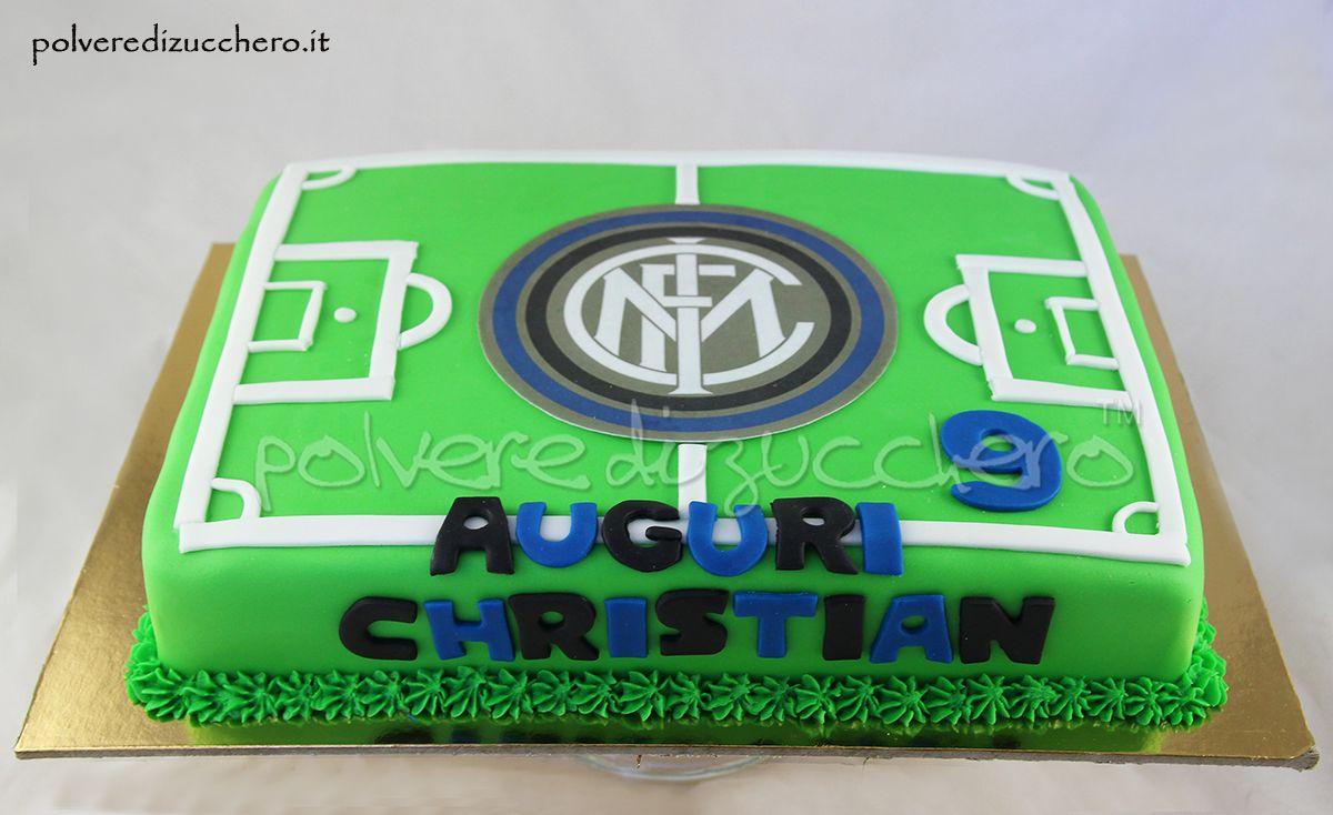Torta Campo Da Calcio In Pasta Di Zucchero Per Un Piccolo Tifoso