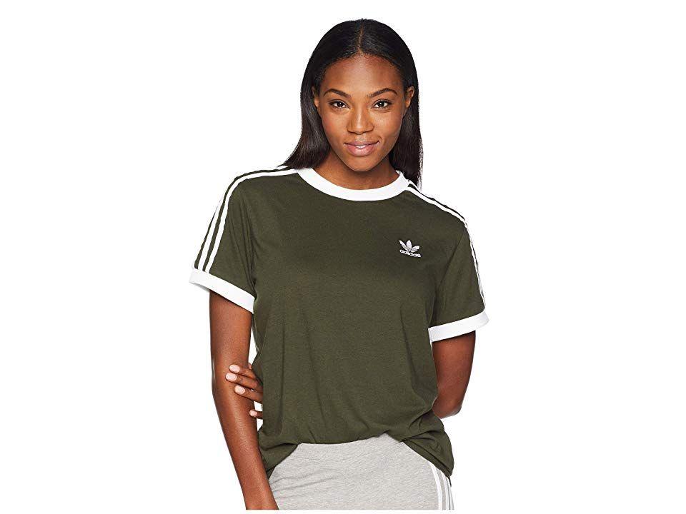 55d1bcda043 adidas Originals 3 Stripes Tee (Night Cargo) Women s T Shirt. A look like