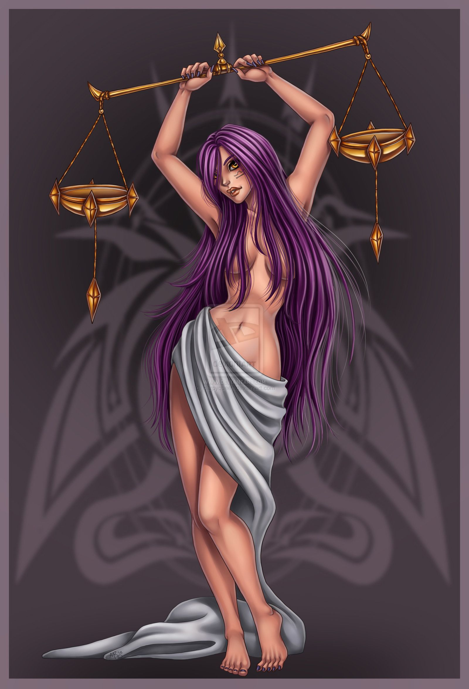 Aries Libra Libra Commission By Harpyqueen On Deviantart