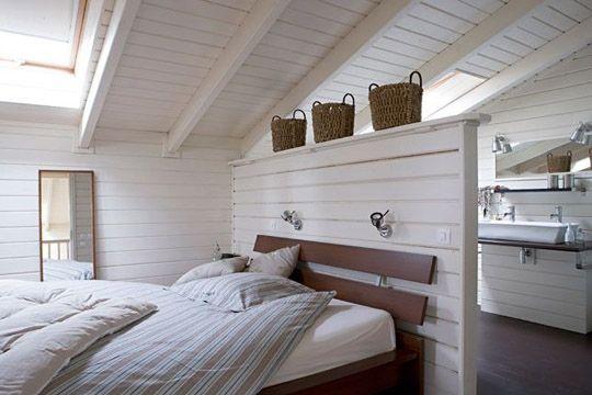 Chambre et salle de bains l 39 union parfaite for Separation entre chambre et salle de bain