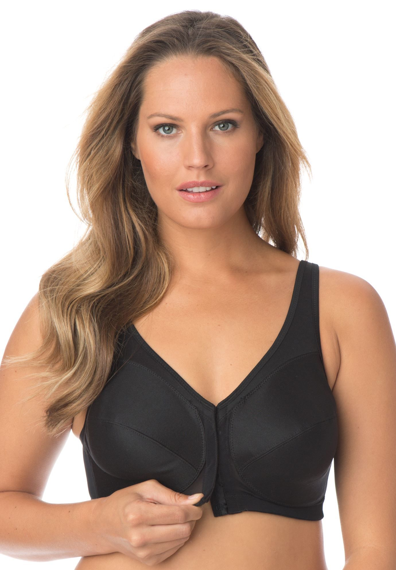 40b4ad48b Magic Lift Plus Front Hook Posture Bra by Glamorise - Women s Plus Size  Clothing
