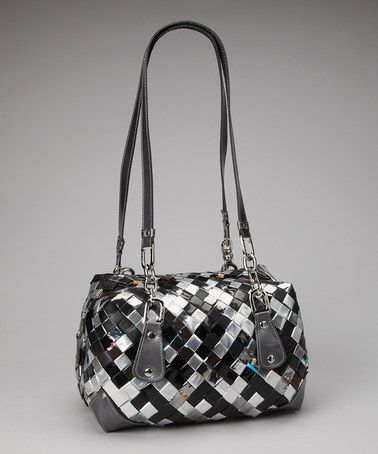 Recycled Materails & A Great Looking Bag!   Take a look at this Gunmetal & Black Shoulder Bag on zulily today!