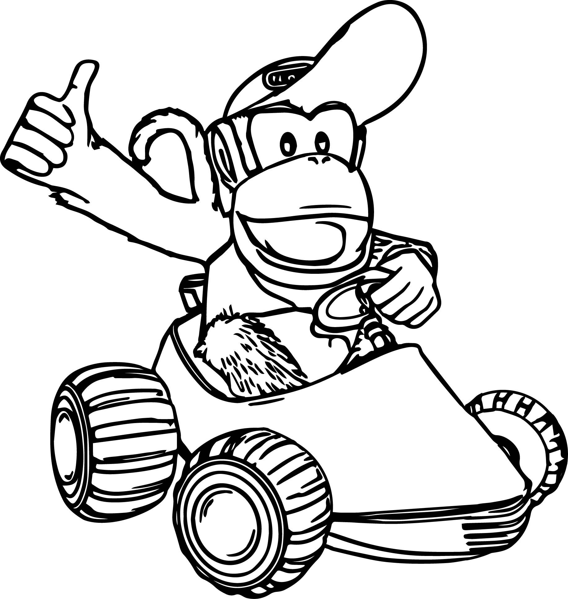 Nice Diddy Kong Coloring Pages With Images Diddy Kong