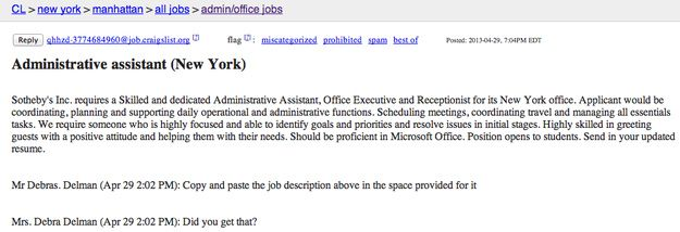 Is This The Worst Craigslist Job Posting Ever Job Posting How