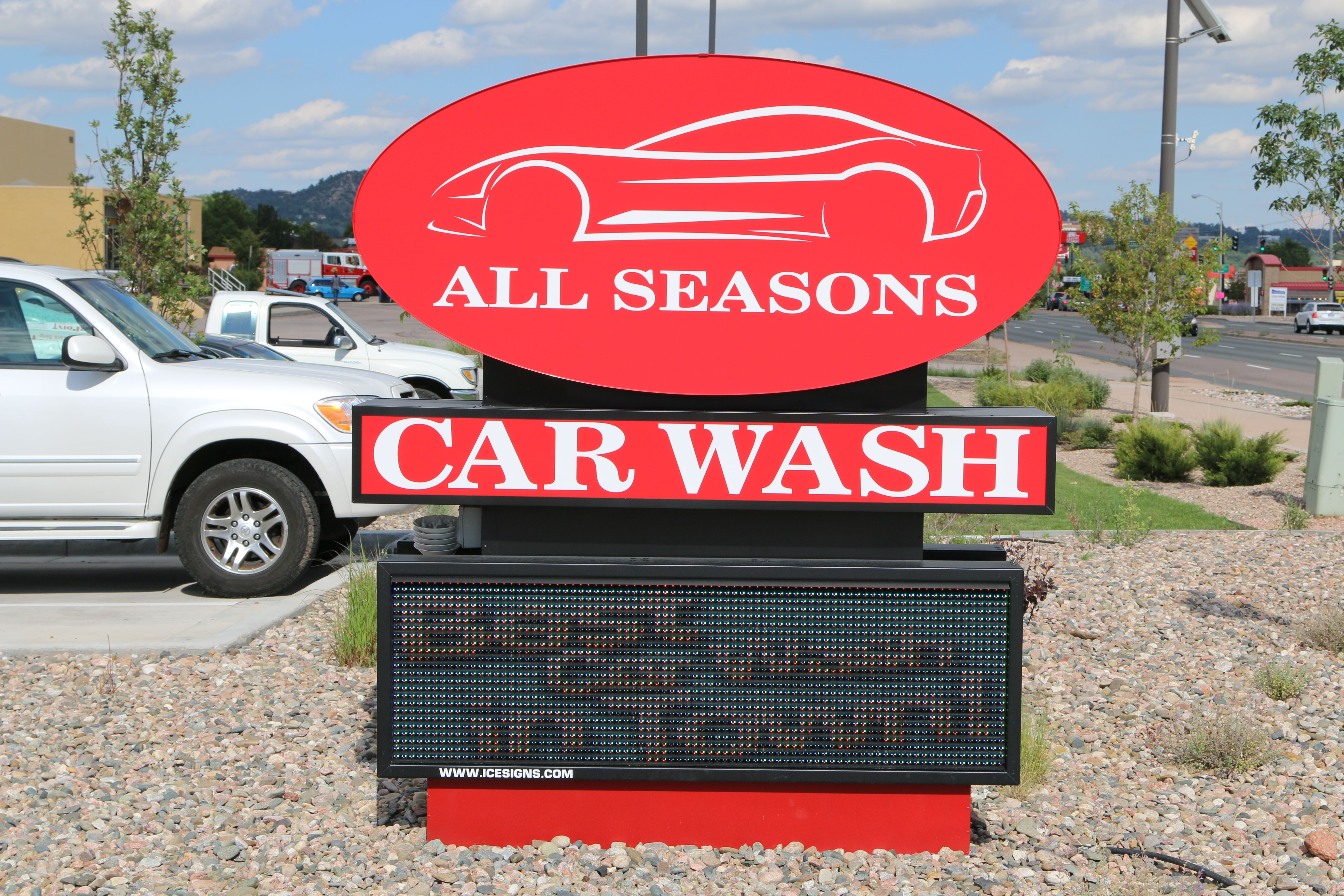 Led Sign With Images Car Wash Wash Seasons