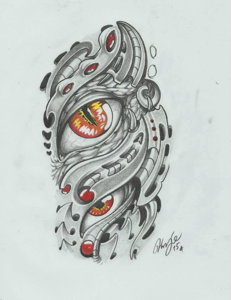 Biomech Eye Mechanic Tattoo Biomechanical Tattoo Sketches