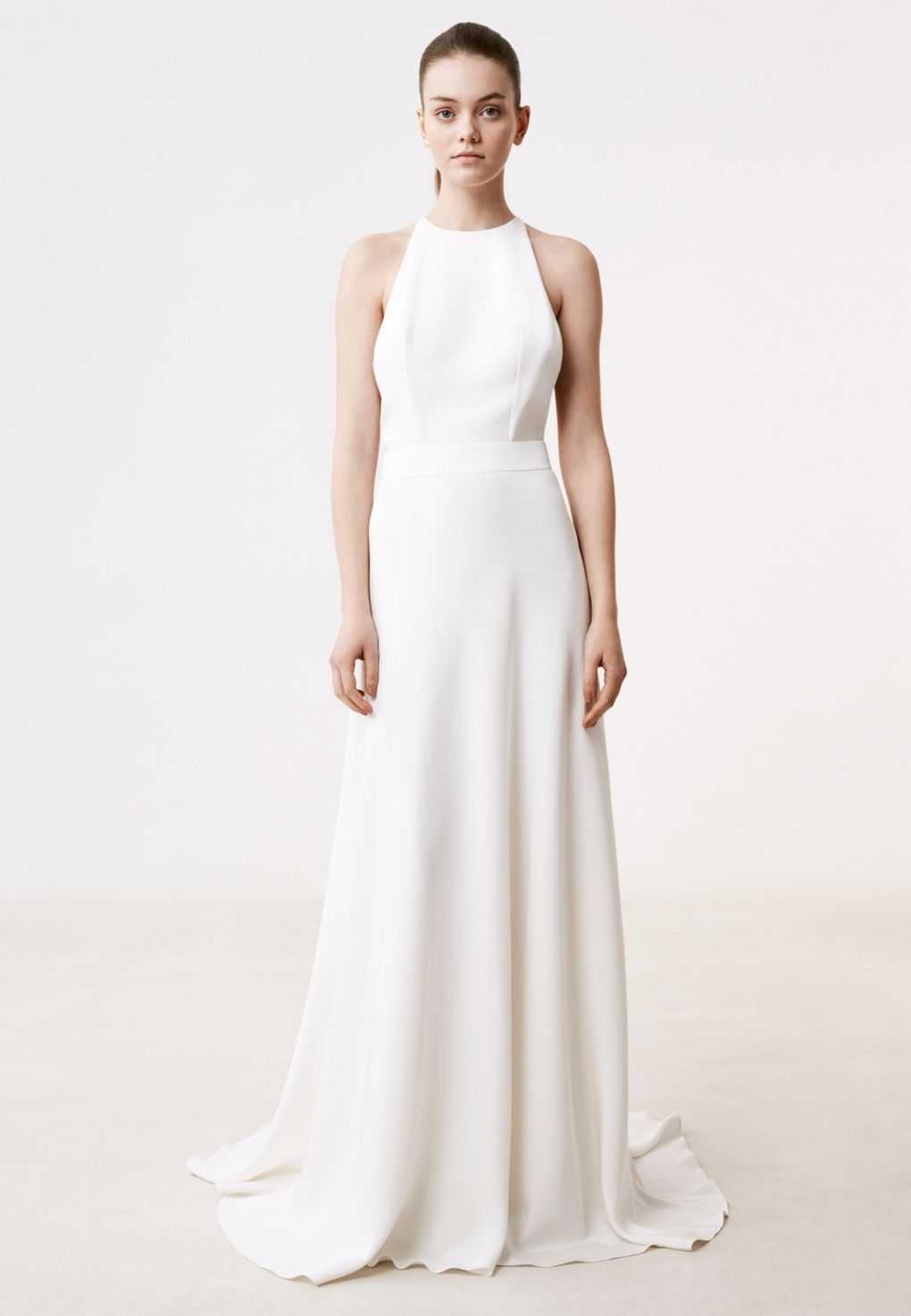 The gauthier dress features an american style neckline the bare