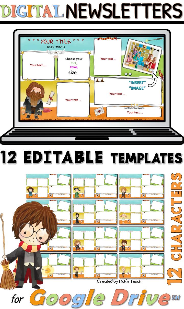Distance Learning 12 Editable Classroom Newsletters Google Drive Wizard 5 Classroom Newsletter Classroom Newsletter Template Classroom