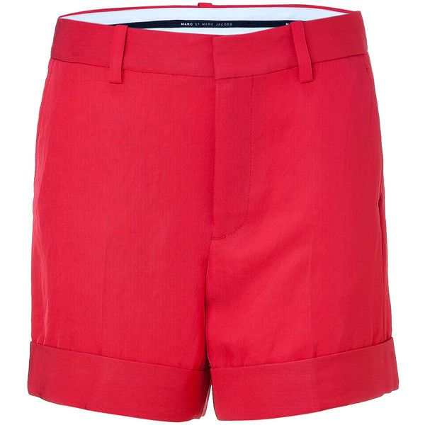 MARC BY MARC JACOBS Convertible Red Twill Shorts found on Polyvore love these shorts!