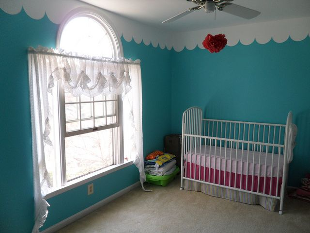 Painted Scallop Wall Border {change It Up To Be Scalloped Chair Rail  Instead}