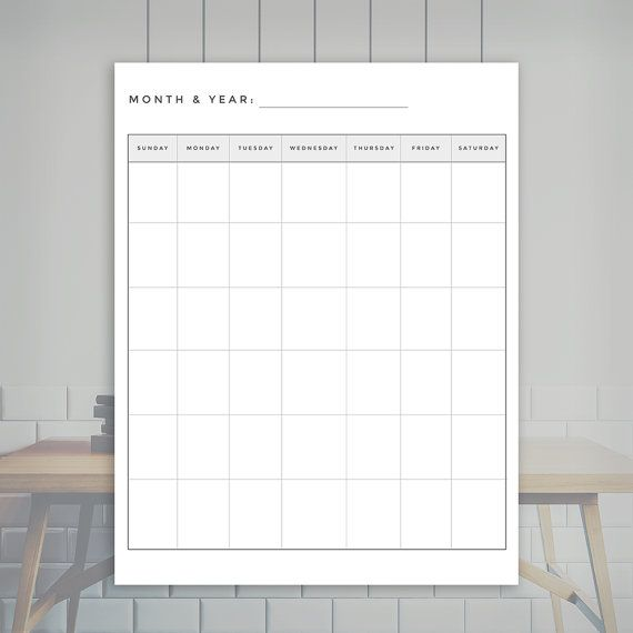 Simple Monthly Planner Monthly Planner Insert Printable JpgPdf