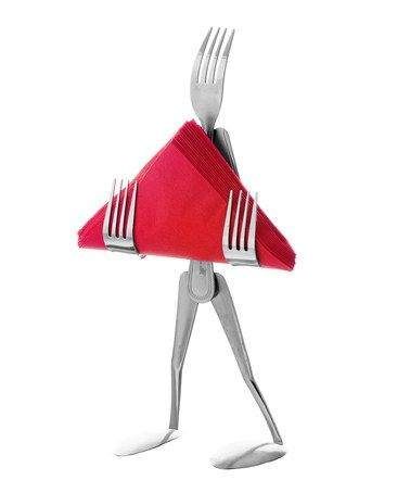 Take A Look At This Fork Napkin Holder By Forked Up Art On Zulily Today Manualidades Con Cucharas Arte Con Tenedor Arte Cuberteria