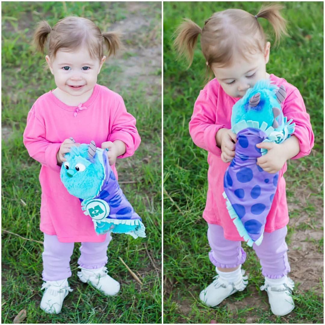 Easy Halloween Costumes For Toddlers Boo From Monsters Inc Diy Halloween Toddler Halloween Costumes Diy Halloween Costume Monster Toddler Halloween Costumes