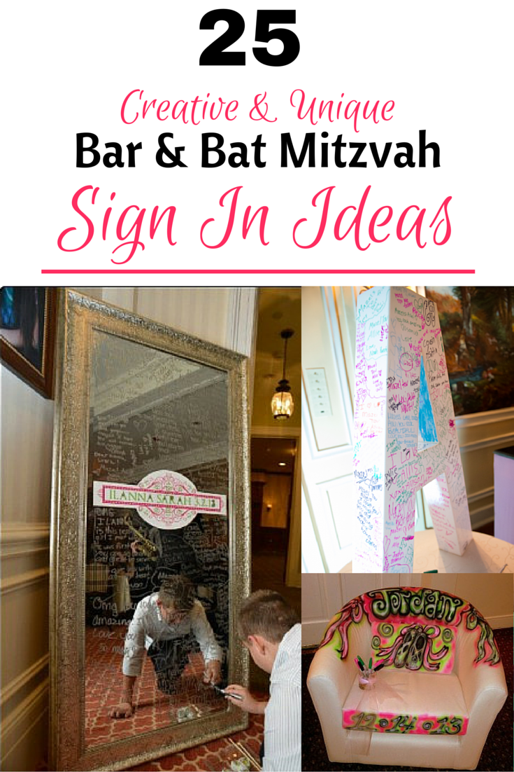 Get Your Sharpies Ready For One Of These Creative And Unique Bar Bat Mitzvah Sign In Ideas Boards Pillows Chairirrors Can Be A Great Way