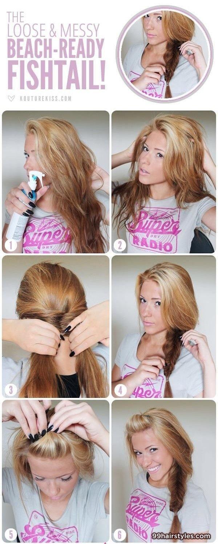 Easy hairstyle idea hairstyles ideas hair pinterest easy