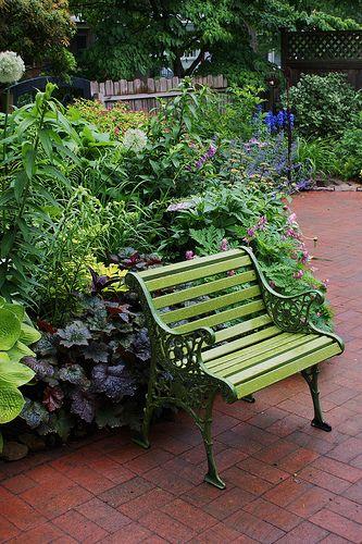 Heavy Duty Counter Stools, Chartreuse Garden Bench 2 Garden Bench Beautiful Gardens Shade Garden
