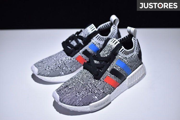 adidas nmd r1 primeknit tricolore black runner un paio di scarpe da corsa