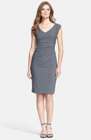 Diane von Furstenberg 'Bevin' Ruched Woven Sheath Dress available at #Nordstrom