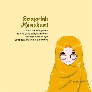Wallpaper Gambar Kartun Muslimah Cantik Banget Terbaru Berkacamata Kartun Gambar Animasi