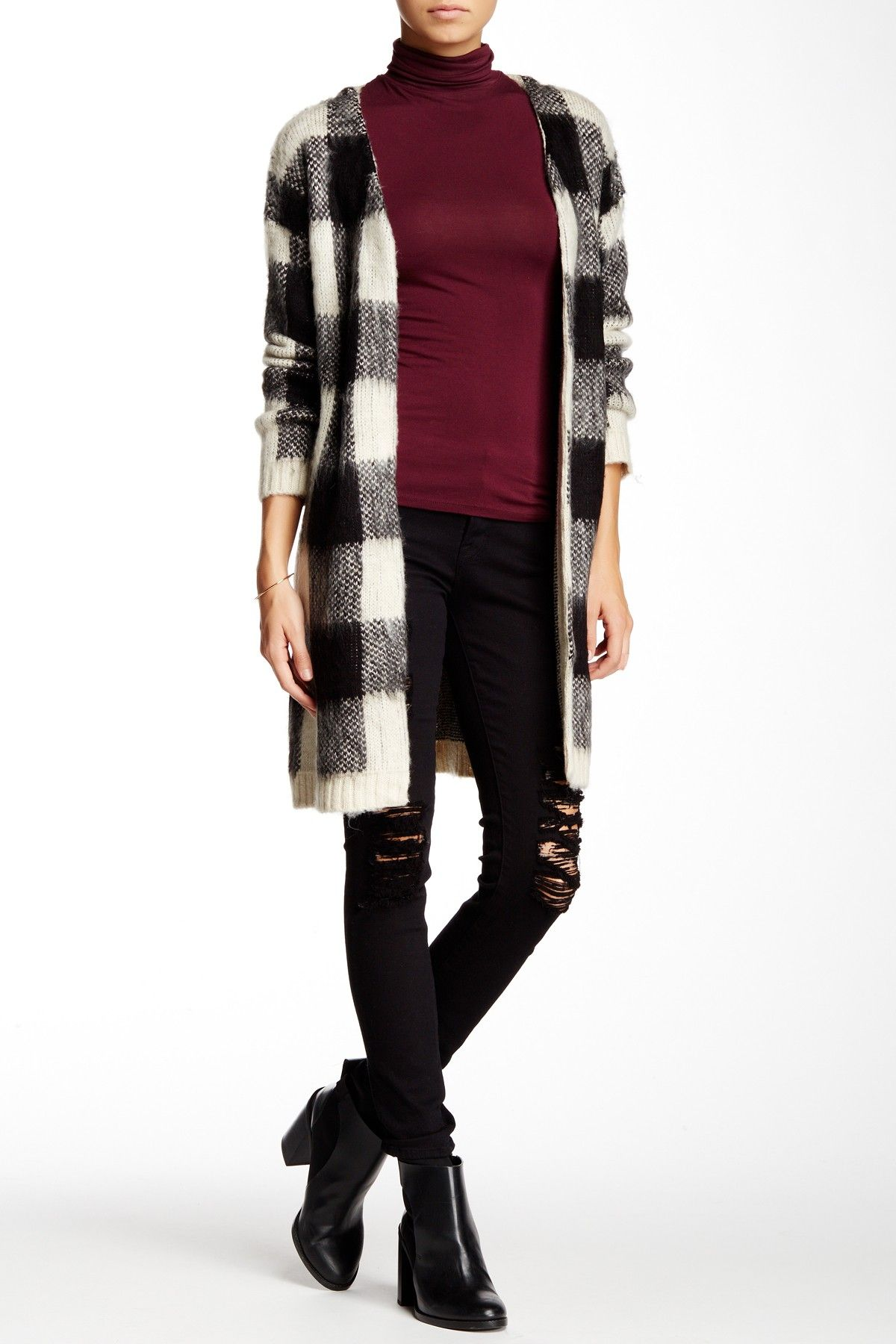 Buffalo Plaid Sweater Coat by Cliche on @nordstrom_rack Sponsored by Nordstrom Rack.