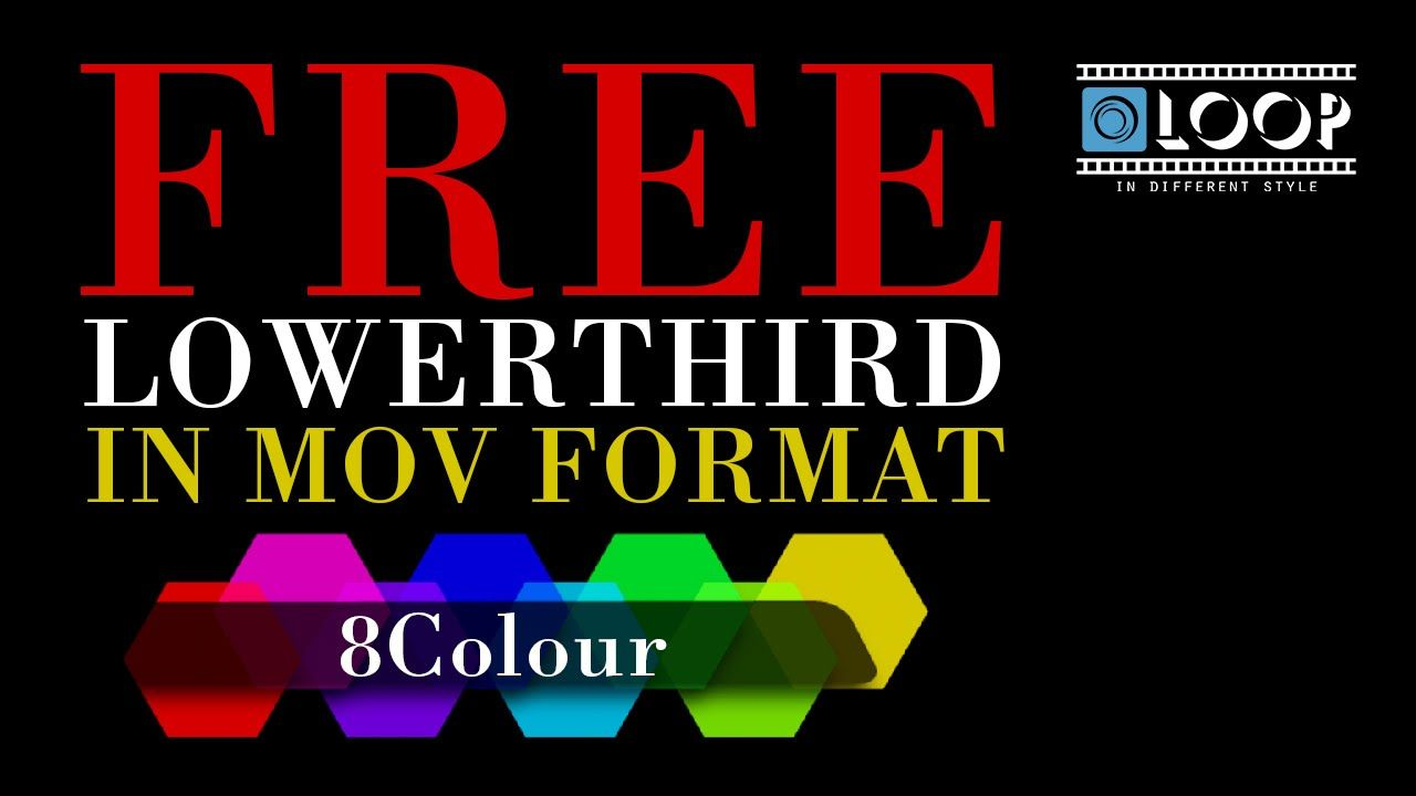 free 8 colour lower third templates in mov format free template