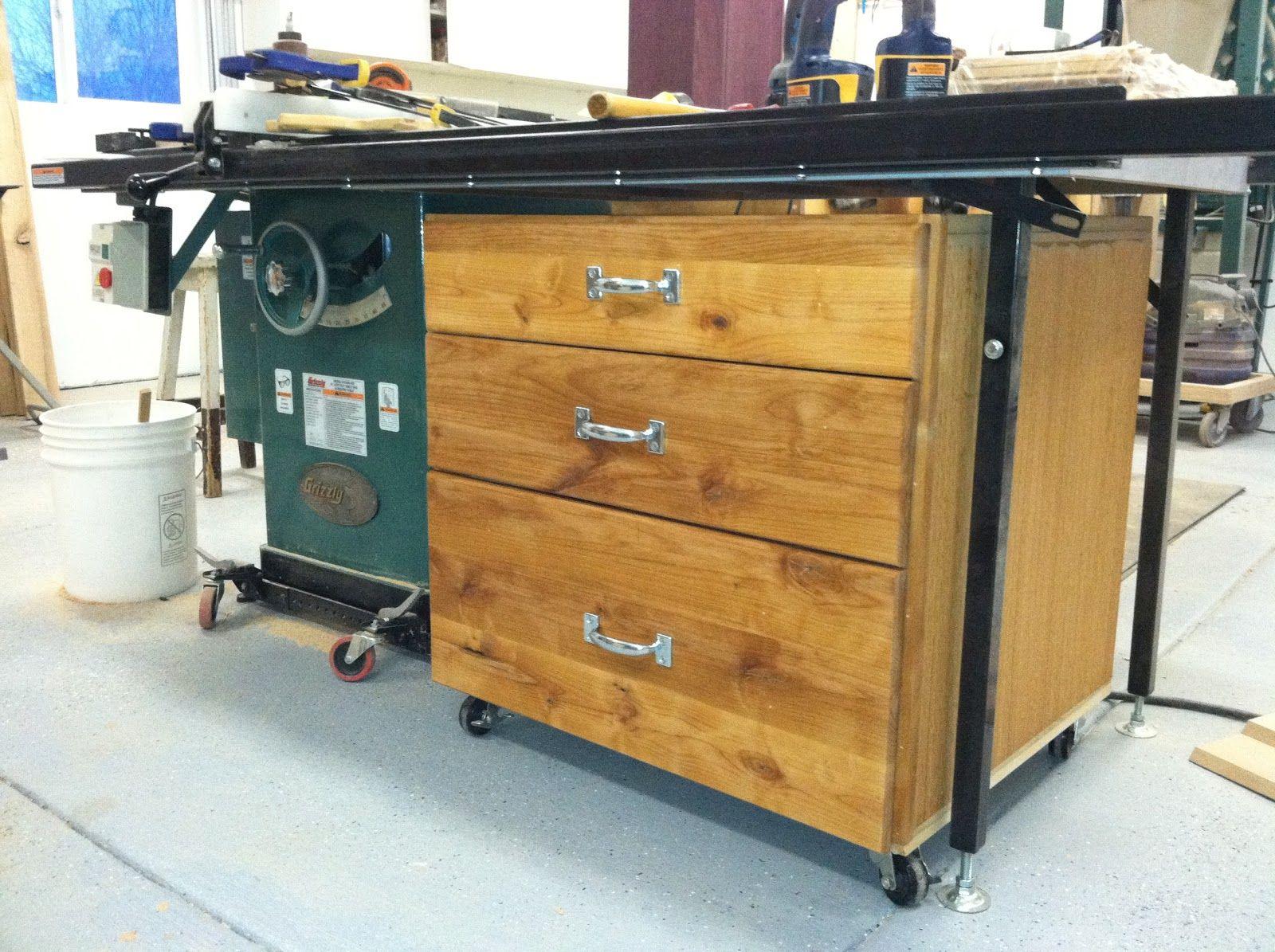 Scott and Judy Mann: Storage cabinet under table saw | studio ...