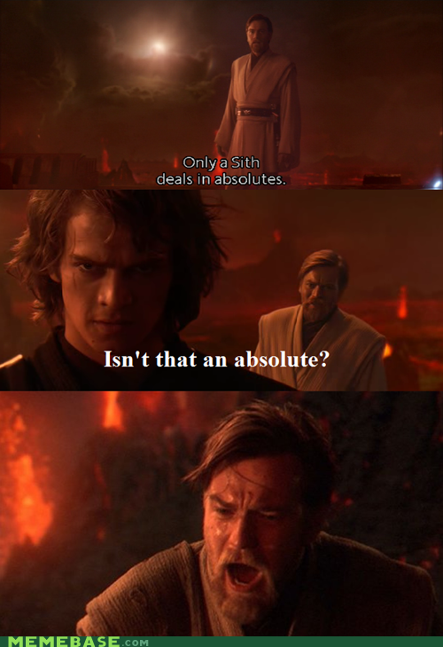 Pwned By The Dark Side Funny Star Wars Memes Star Wars Memes Star Wars Facts
