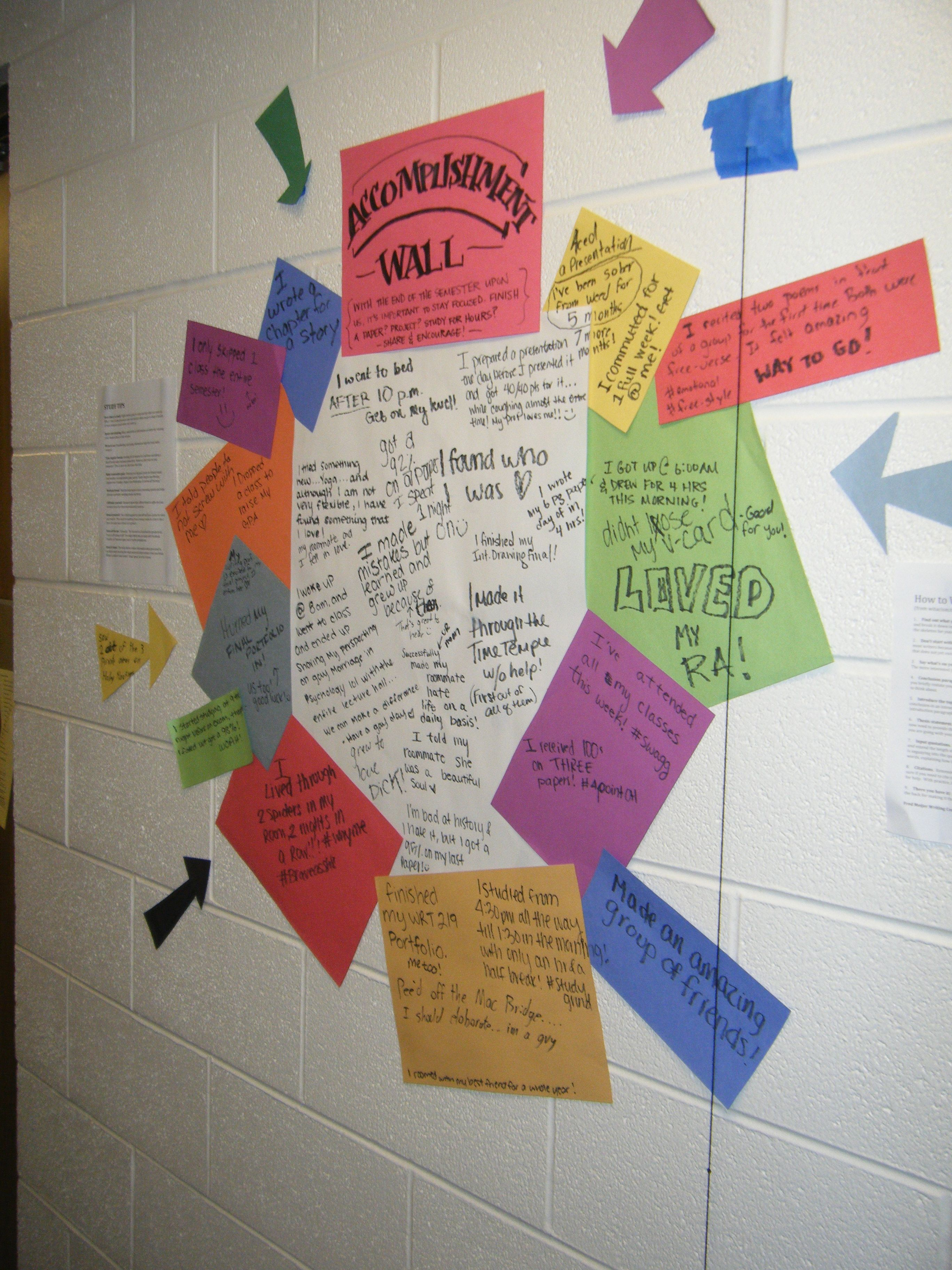 Accomplishment Wall  Let The Residents Show Off Their Hard Work