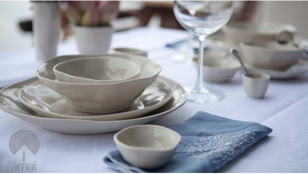 Hand Crafted Asian Dinner Plate Set & Hand Crafted Asian Dinner Plate Set | Amaï Saigon | Pinterest ...