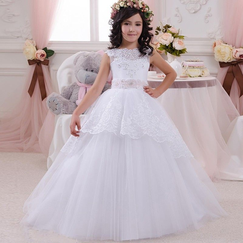4f314775f9a http   babyclothes.fashiongarments.biz  Long Ball Gown White Flower Girl