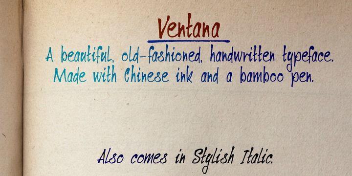 Ventana - Fun handwritten fonts I like