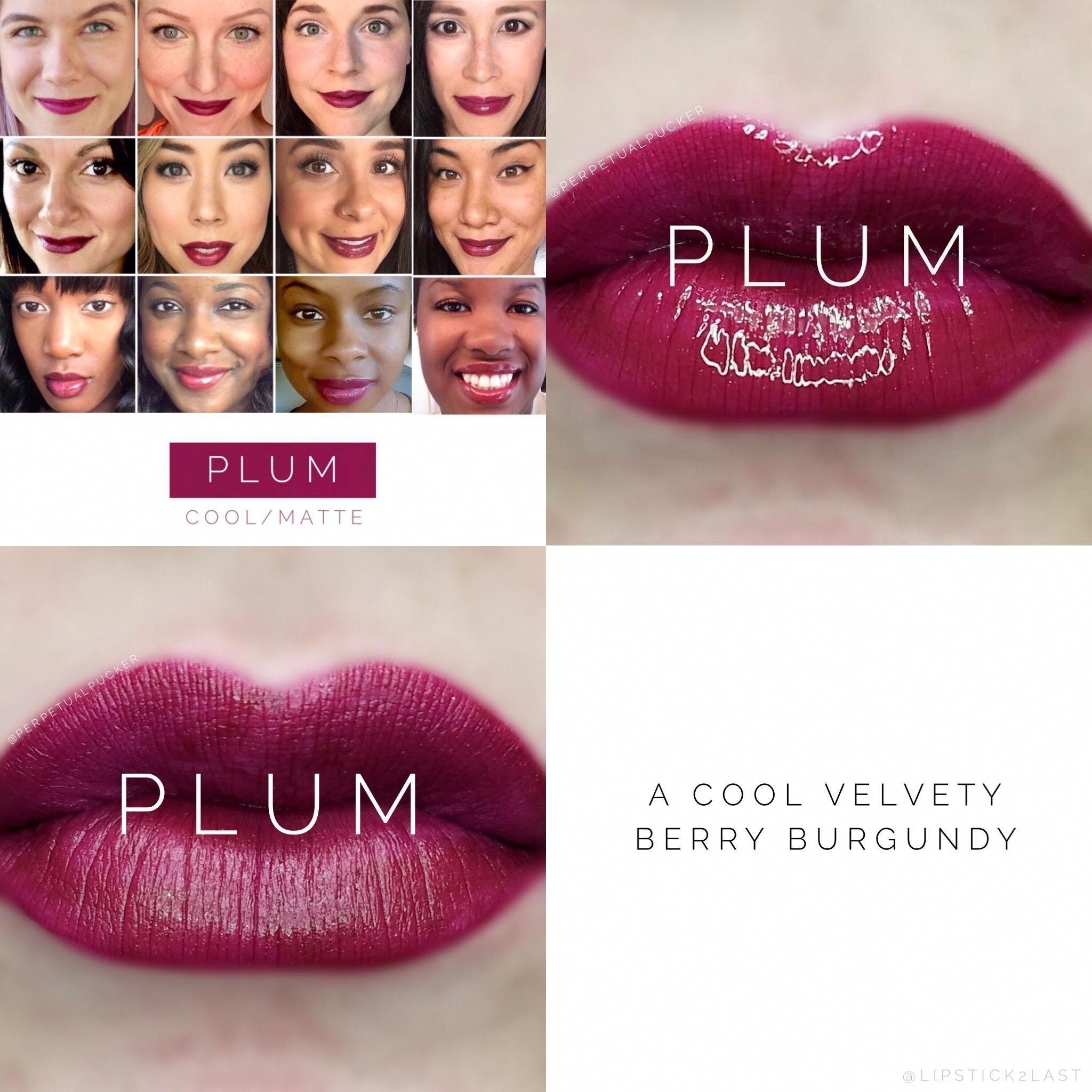 Plum LipSense of 2017. Current Plum LipSense collage #lipcolors2017