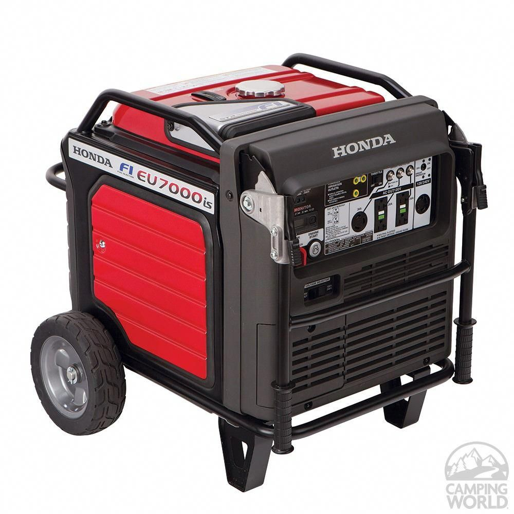 Honda Eu7000is Generator With Electronic Fuel Injection Honda 660270 Portable Generators In 2020 Portable Inverter Generator Honda Generator Inverter Generator