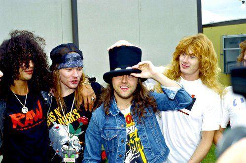 lembra quando a gente era tudo amigo? #GunsNRoses #Metallica #Megadeth #HardRock