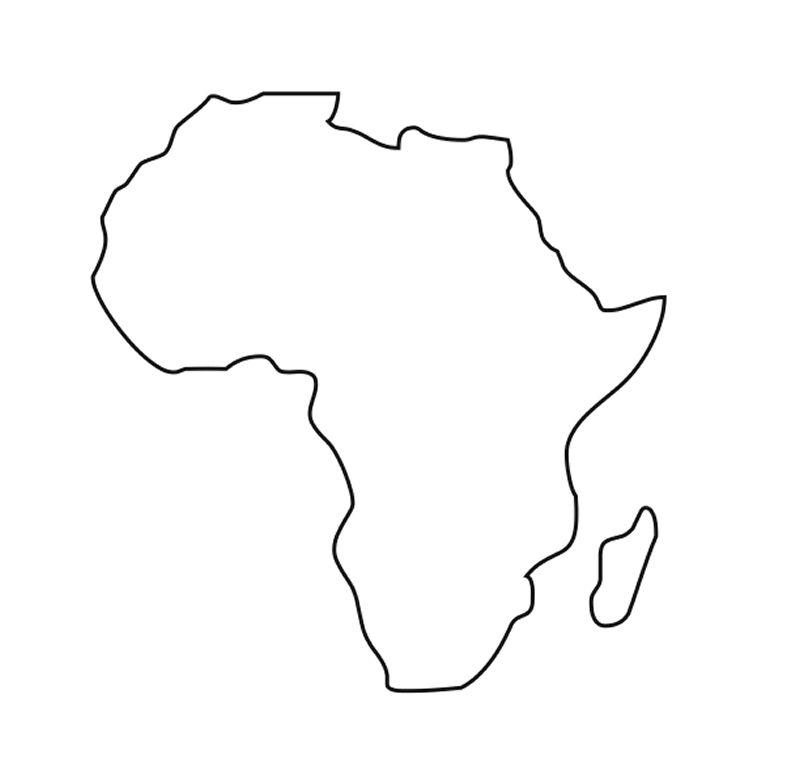 Africa Clip Art 9 Clipartbarn Africa Outline Map 800 X 759