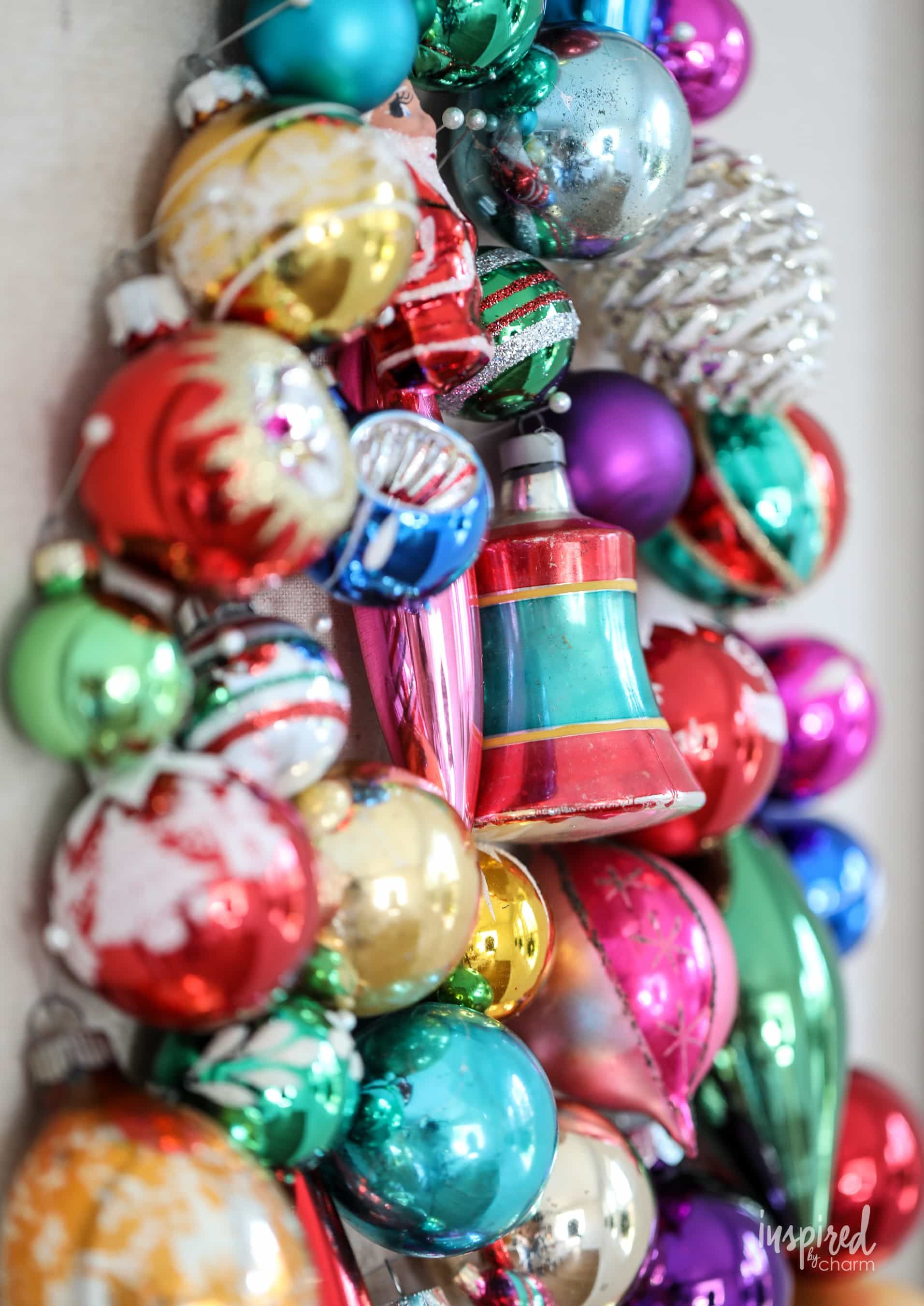 Learn How To Make This Diy Vintage Ornament Wall Decor Tree Christmas Holiday Vintage Ornament Tree Walldec In 2021 Vintage Ornaments Tree Wall Decor Diy Vintage