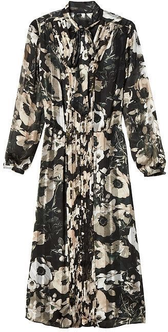 1f1aa9e25 Banana Republic Floral Tie-Neck Shirtdress | Products | Floral tie ...