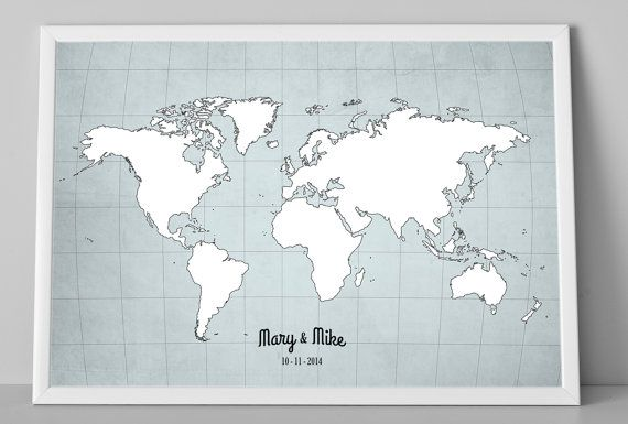 Wedding guest book world map personalized wedding by macanaz wedding guest book world map personalized wedding by macanaz gumiabroncs Choice Image