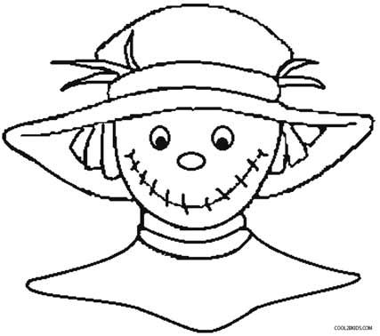 Printable Scarecrow Coloring Pages For Kids | Cool2bKids ...