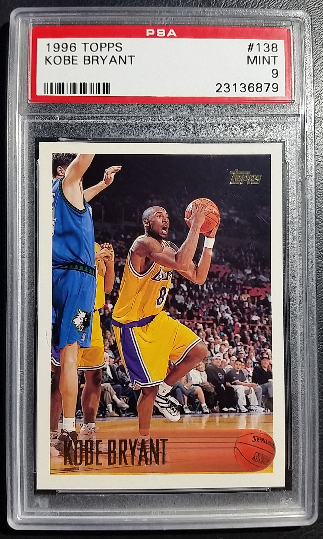 1996 topps basketball kobe bryant rookie card graded mint