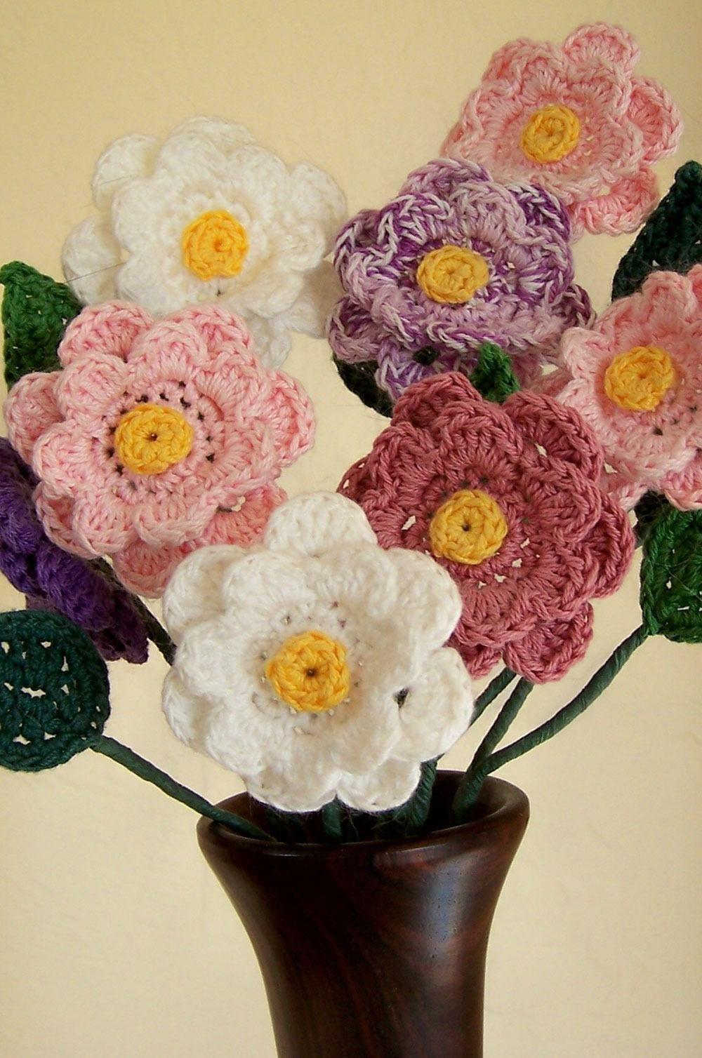 Flores de Crochê  125 Modelos 42e7ef4a297e4
