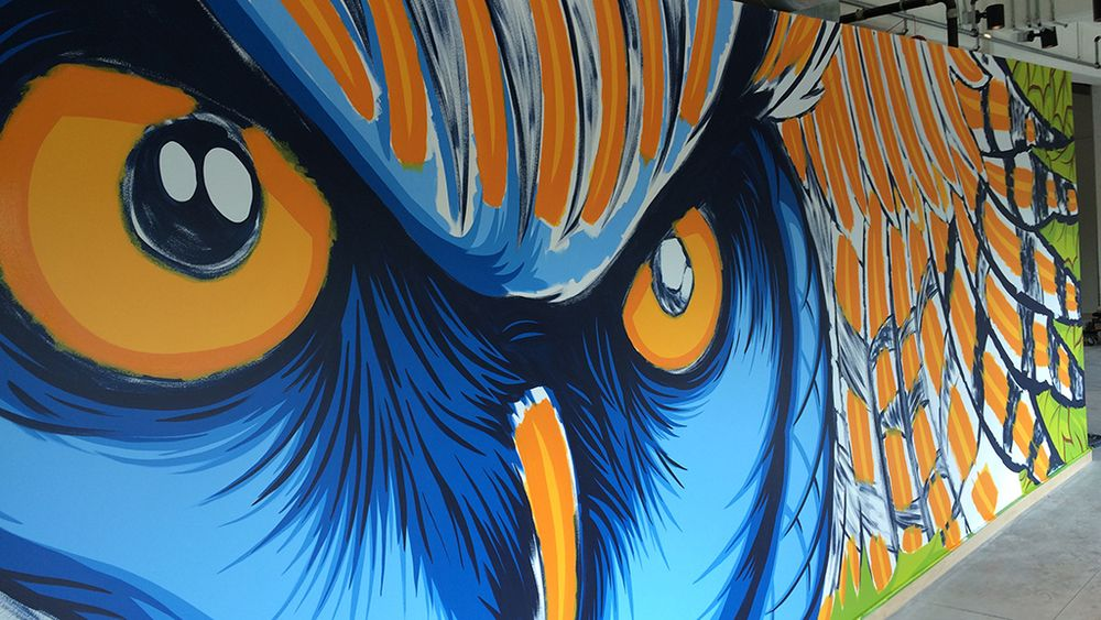 Amill artist loft mural