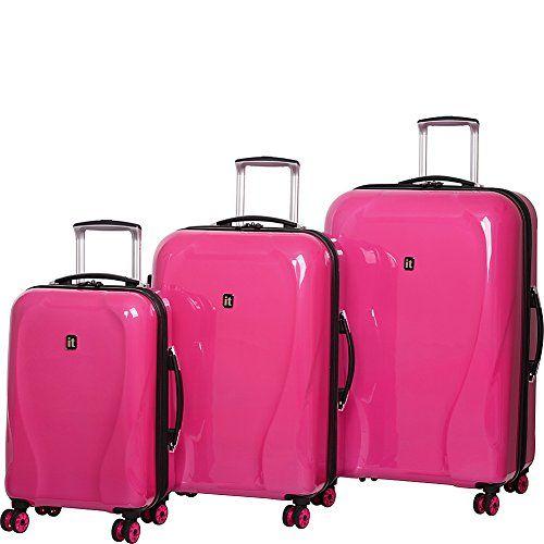 it luggage Corona Hardside 8 Wheel 3 Piece Set Hot Pink *** You ...