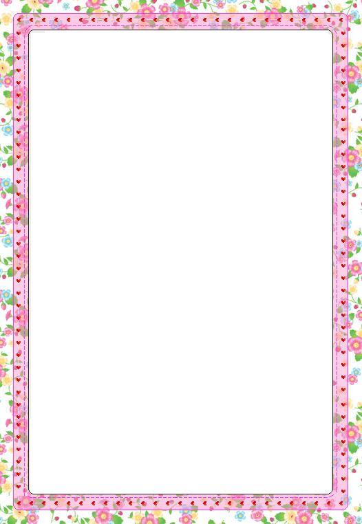 flower border | Borders, Frames & Backgrounds | Pinterest ...