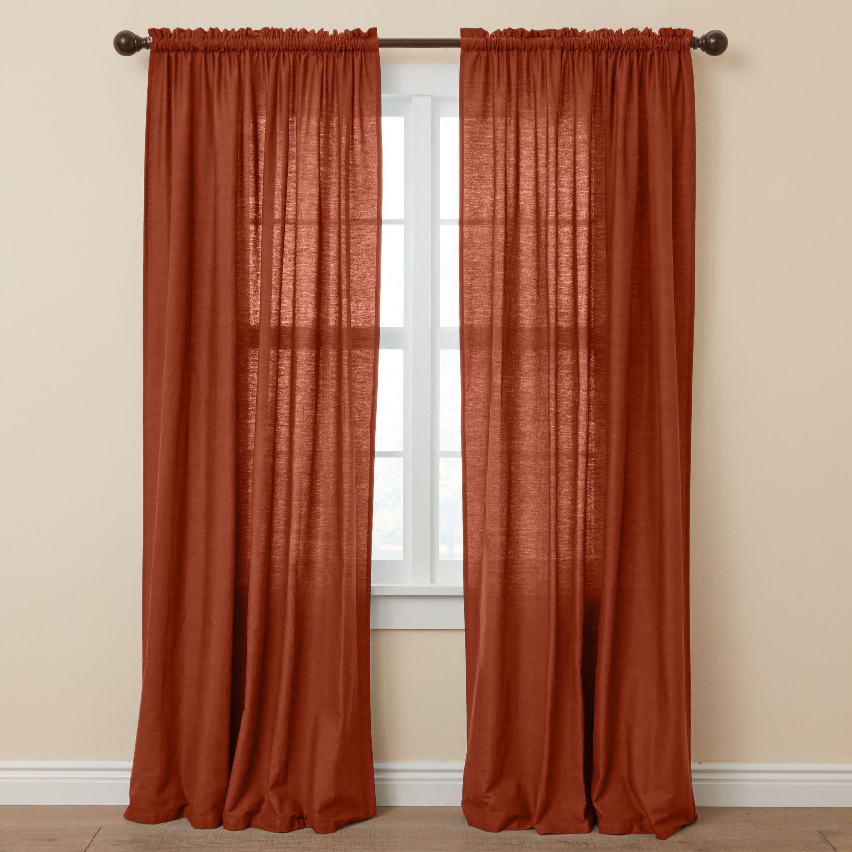 Bh Studio Cotton Canvas Rod Pocket Panel Plus Size Curtains