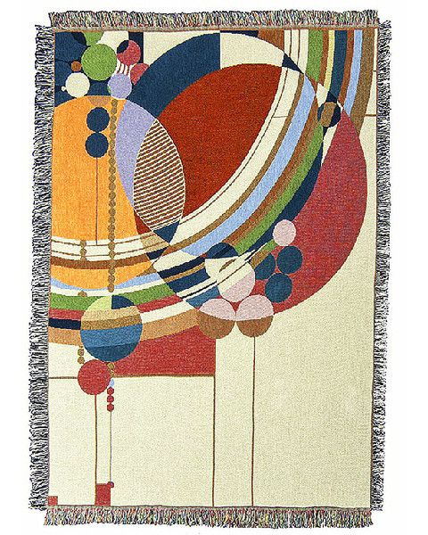 The Frank Lloyd Wright March Balloons Tapestry Throw Is