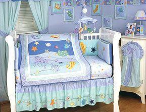 Oceana Ocean Sea Life Crib Set For A Whatcha